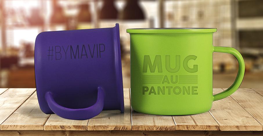 mug personnalisé à la couleur pantone