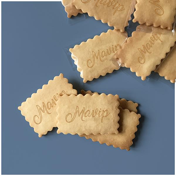 Biscuit gateau personnalisé avec logo d'entreprise
