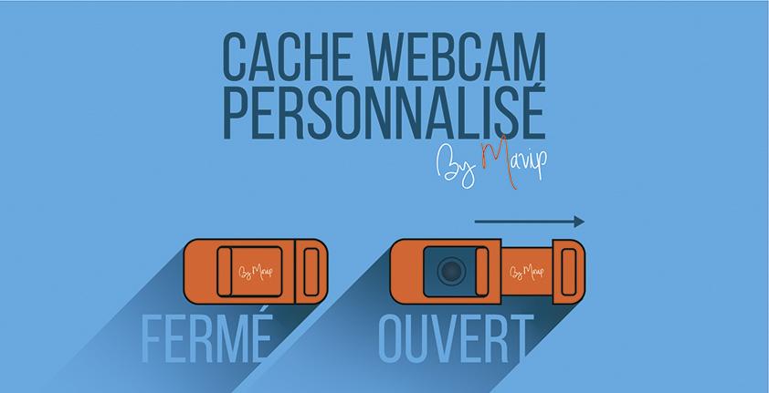 cache webcam personnalisé avec logo d'entreprise ou logo d'association objet média