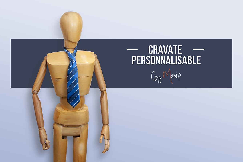 Objet média cravate personnalisée avec logo d'entreprise