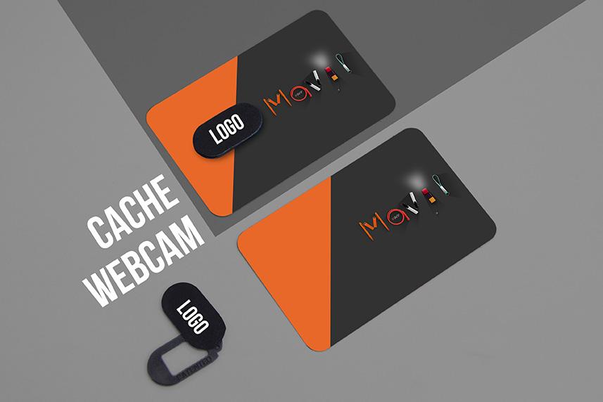 Cache Webcam personnalisable avec logo d'entreprise