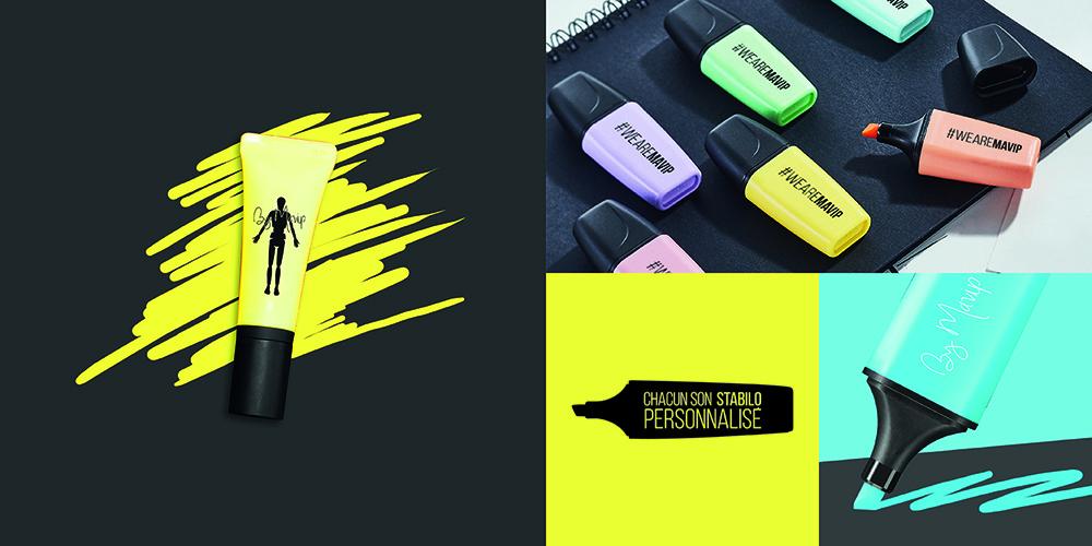 Stabilo personnalisable avec logo d'entreprise