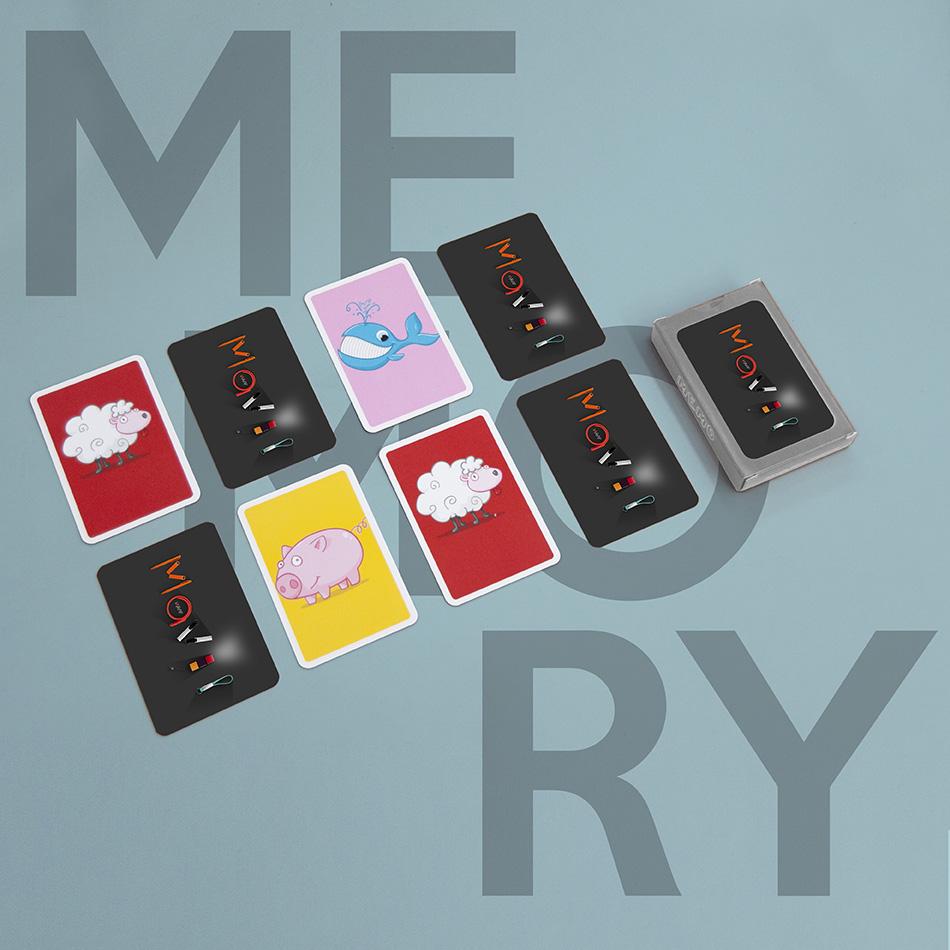 Jeu du memory personnalisable avec logo d'entreprise