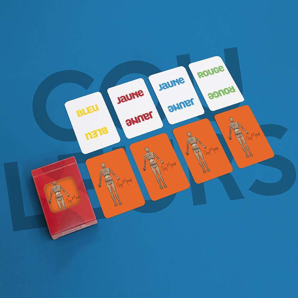 Jeu des couleurs personnalisables avec logo d'entreprise