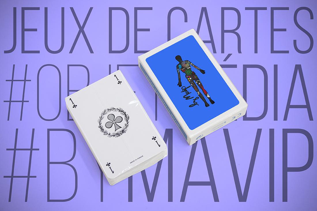 Jeu de cartes personnalisé avec logo d'entreprise