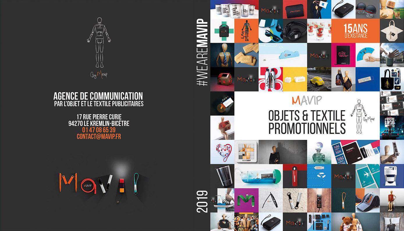 Catalogue objets médias personnalisables avec logo d'entreprise