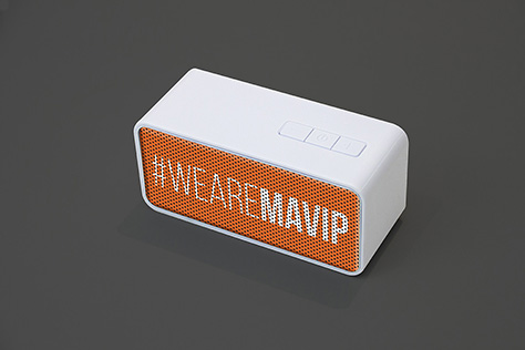 Enceinte bluetooth personnalisée avec logo full impression totale by Mavip