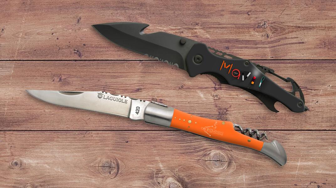 Couteaux personnalisables avec logo d'entreprise by Mavip