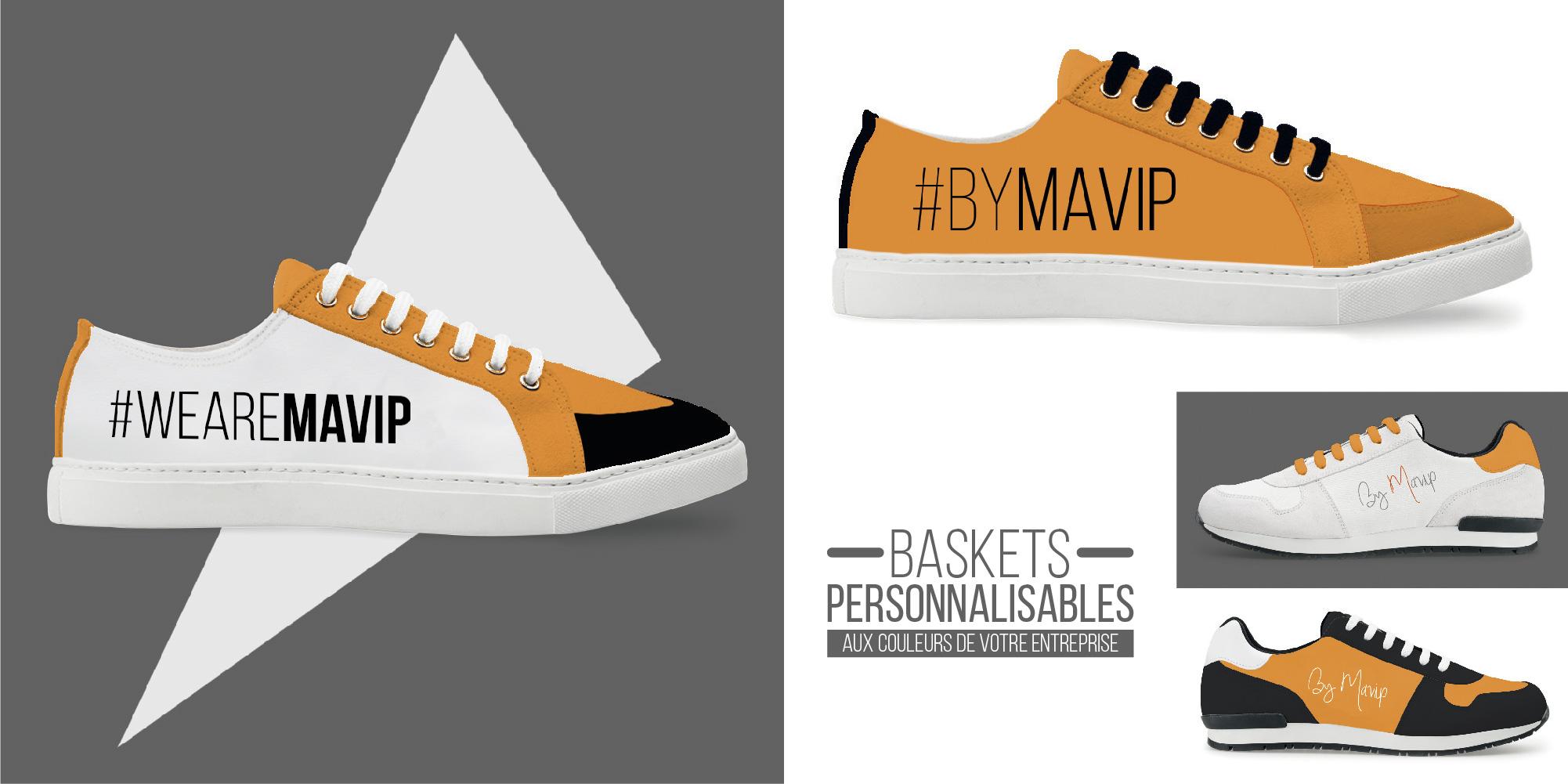 Baskets personnalisables aux couleurs de votre entreprise logo by Mavip