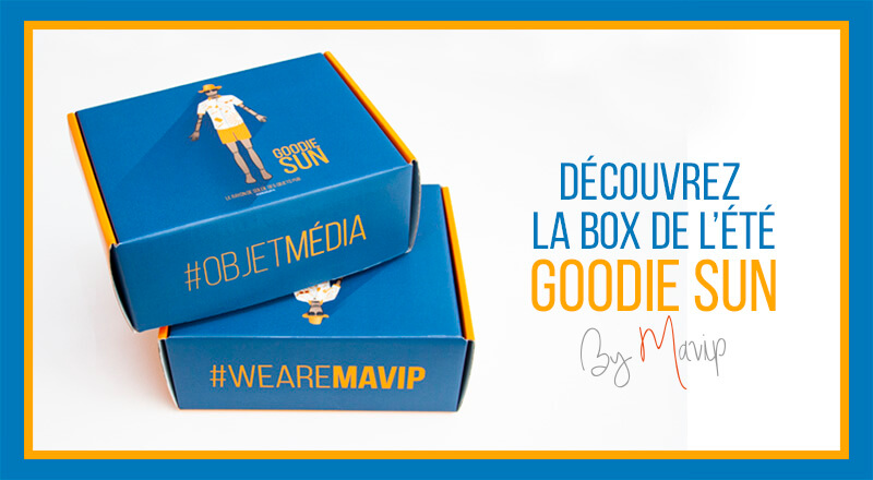 Box goodie Sun remplie d'objets médias by Mavip