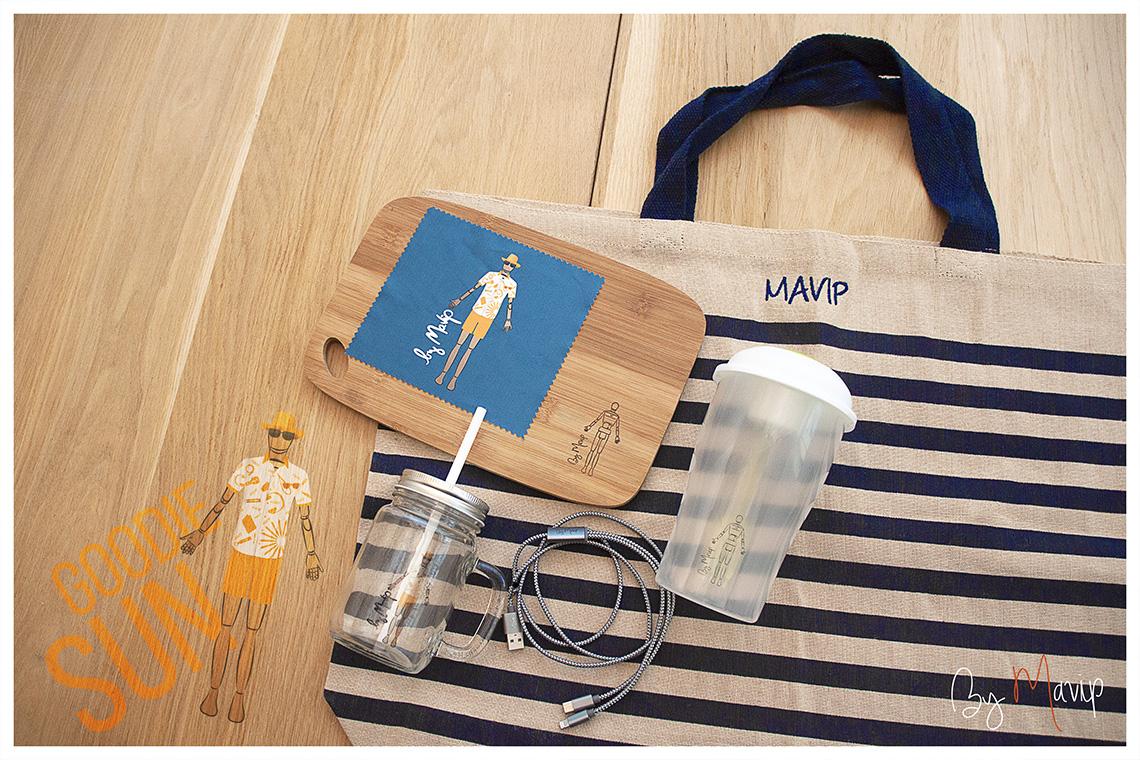 Collection d'objets médias personnalisables Goodie Sun by Mavip