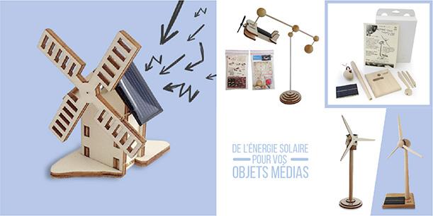 Objet média fonctionnant à l'énergie solaire pour communiquer sur des thèmes écologiques