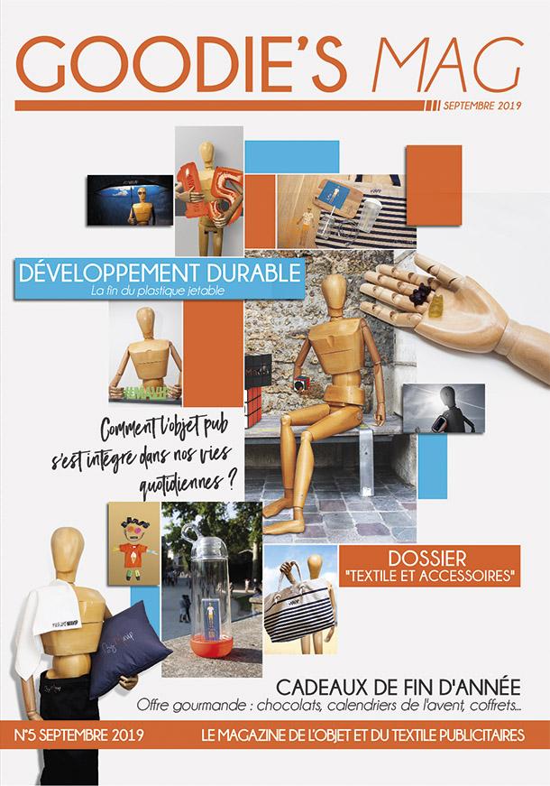 Numéro De Septembre 2019 du Goodie's Mag magazine des objets médias