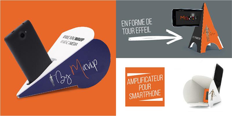 Amplificateur de son pour smartphone personnalisable avec logo by Mavip