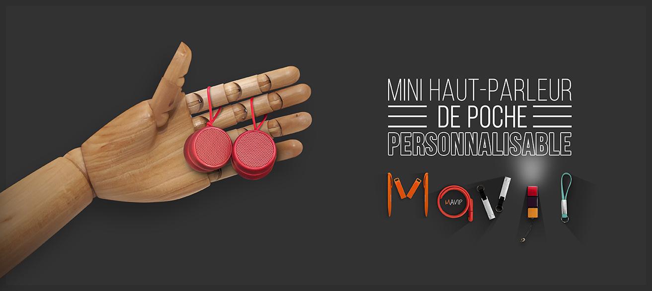 Haut parleur de poche personnalisable avec logo d'entreprise by Mavip