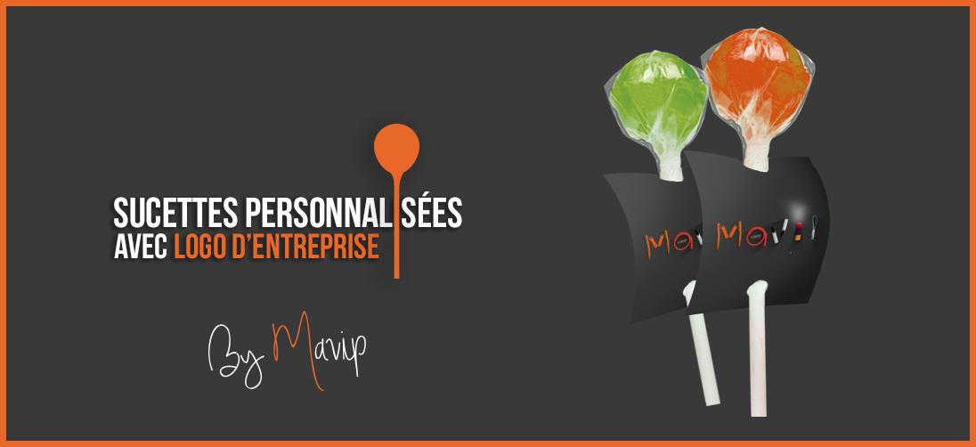 Sucettes personnalisées avec logo d'entreprise by Mavip