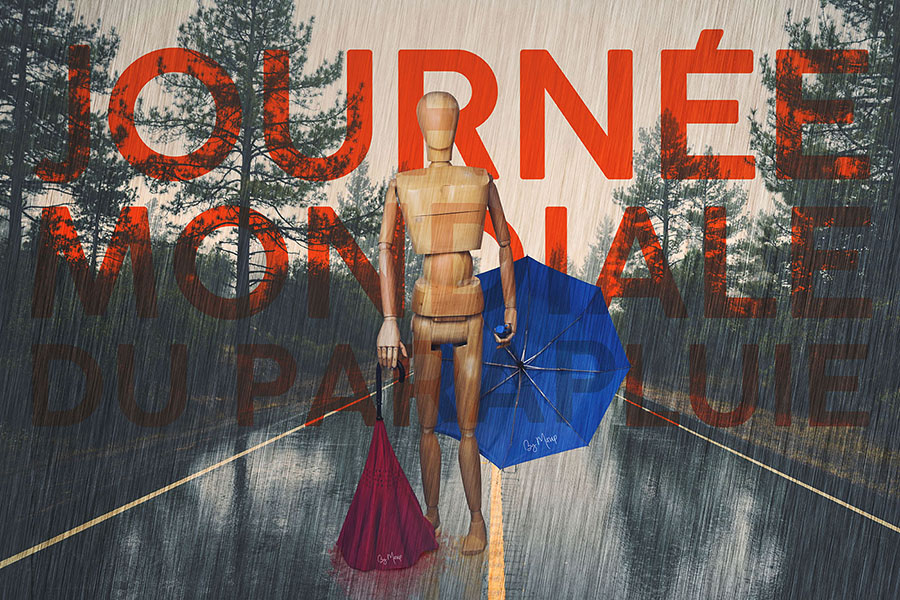 Journée mondiale des parapluies personnalisables avec logo d'entreprise