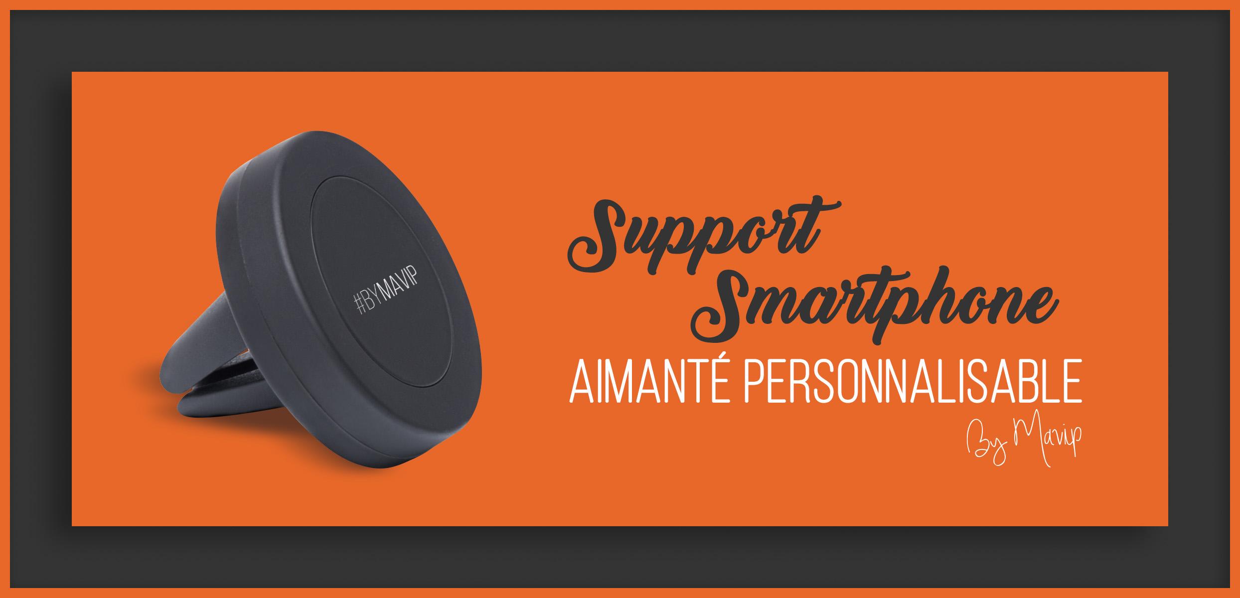 Support smartphone aimanté personnalisable avec logo d'entreprise