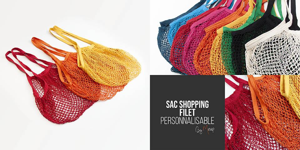 Sac shopping filet personnalisable avec logo d'entreprise by Mavip