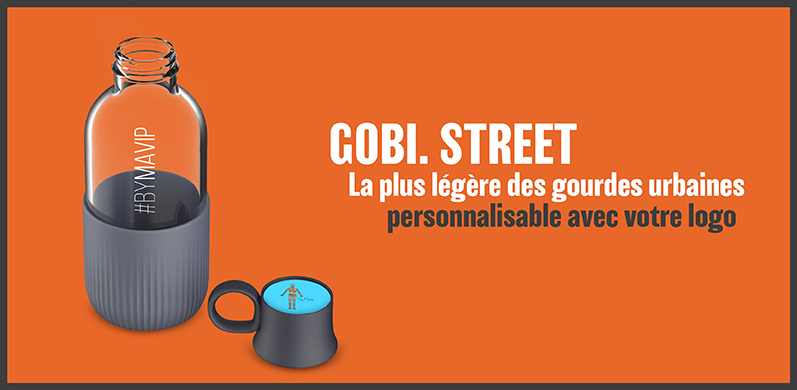 Gobi street la gourde urbaine personnalisable avec logo d'entreprise