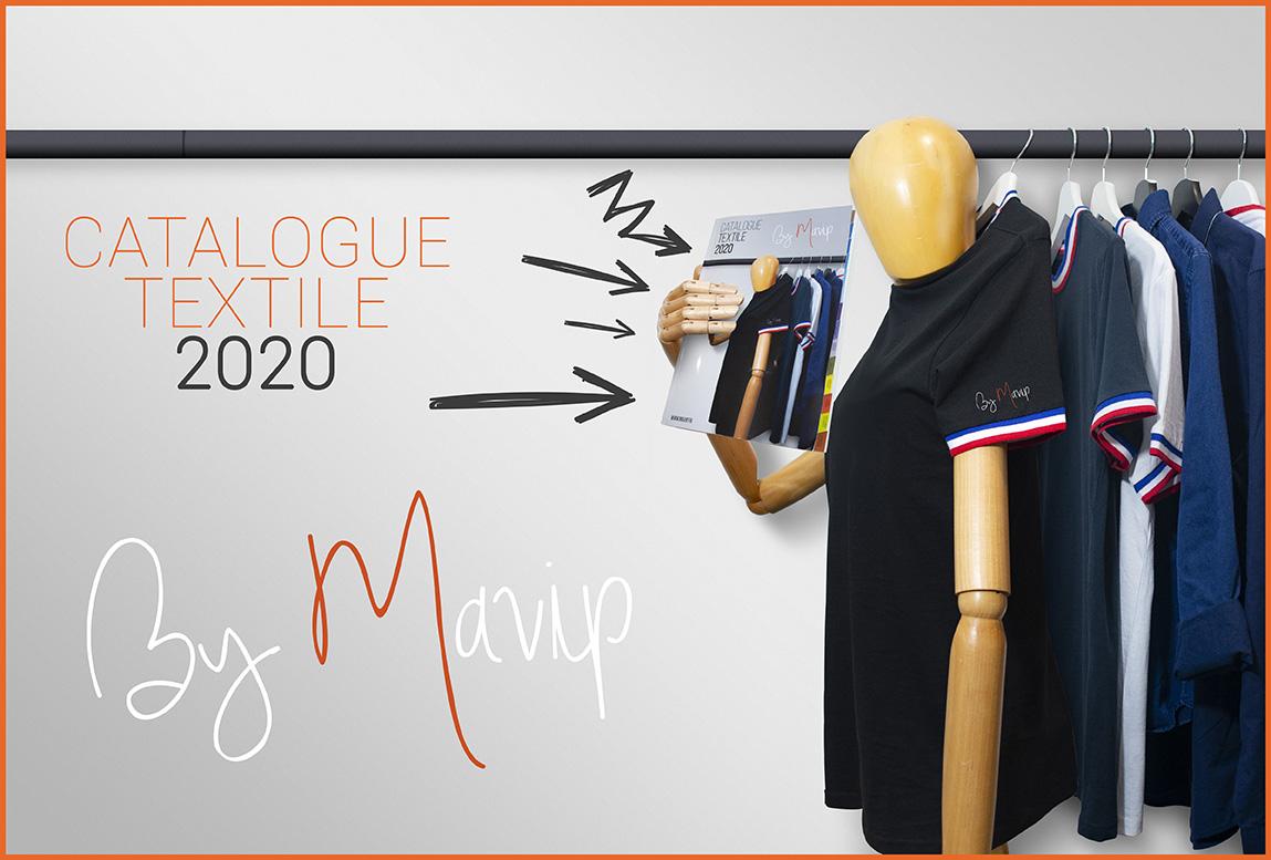 Catalogue textile publicitaire personnalisable avec logo d'entreprise