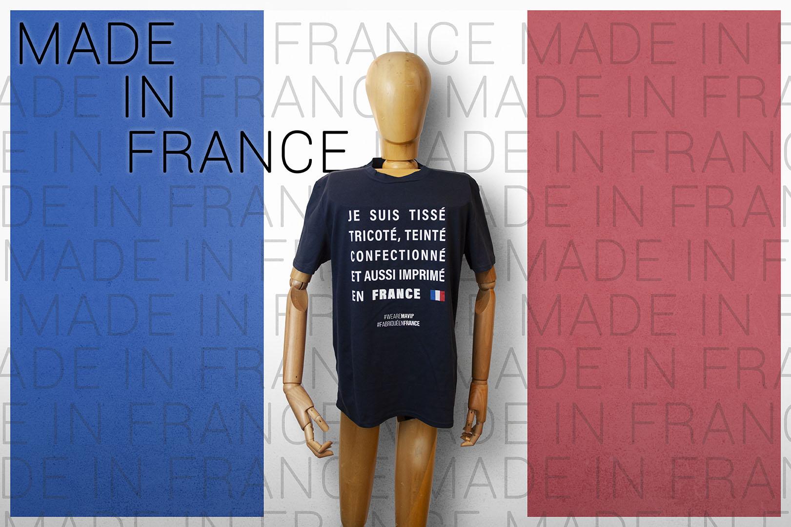 LE T-shirt made in france personnalisable avec logo d'entreprise