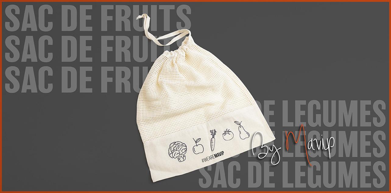 Sac de fruits et légumes personnalisables avec logo d'entreprise