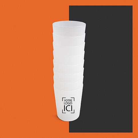 mini gobelet personnalisable avec logo d'entreprise
