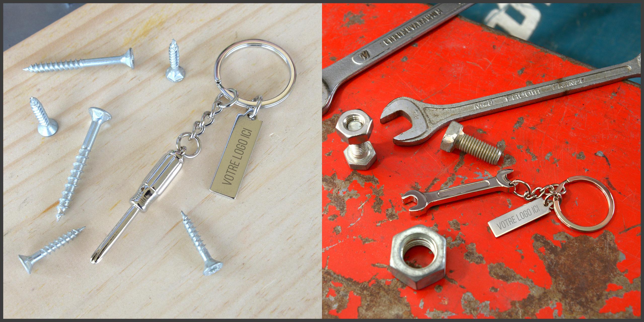 Porte-clés en forme d'outils personnalisable avec logo d'entreprise by Mavip