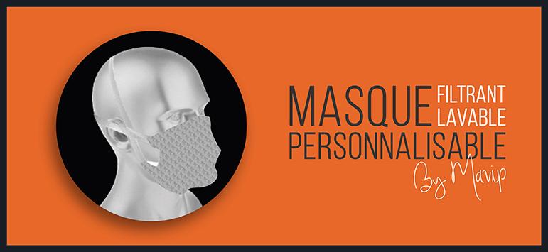 Masque filtrant et lavable personnalisable by Mavip