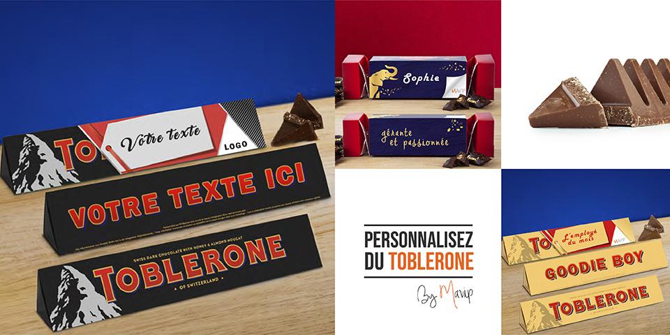 Toblerone personnalisable avec logo d'entreprise by Mavip