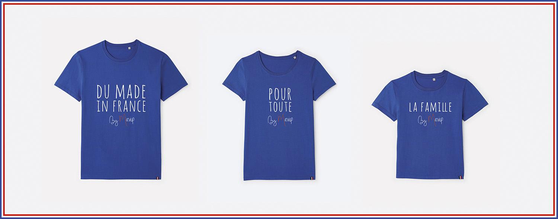 T-shirt made in France personnalisable avec logo d'entreprise
