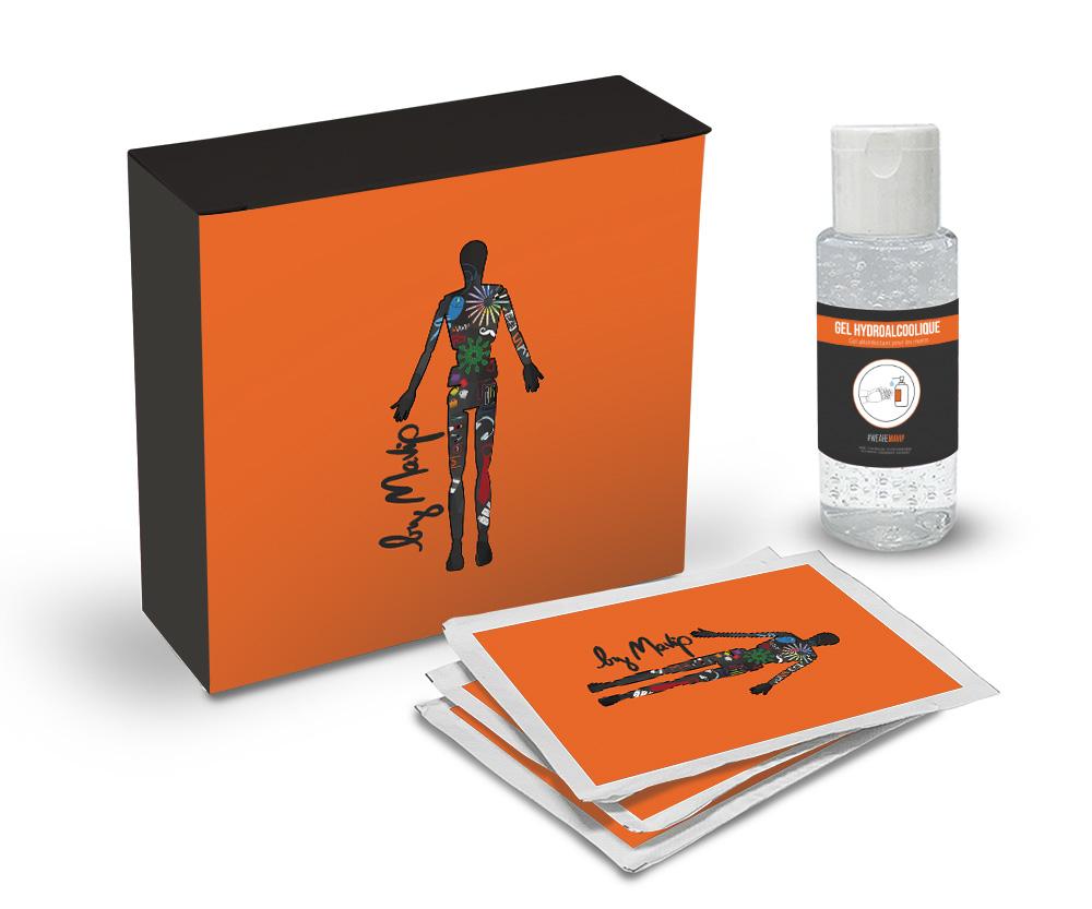 Kit sanitaire personnalisable pour se protéger des virus