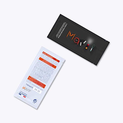 Sachet de lotion hydroalcoolique personnalisable avec logo d'entreprise