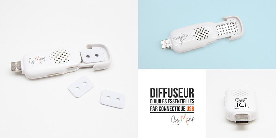 Diffuseur d'huiles essentielles par port USB personnalisable avec logo d'entreprise by Mavip