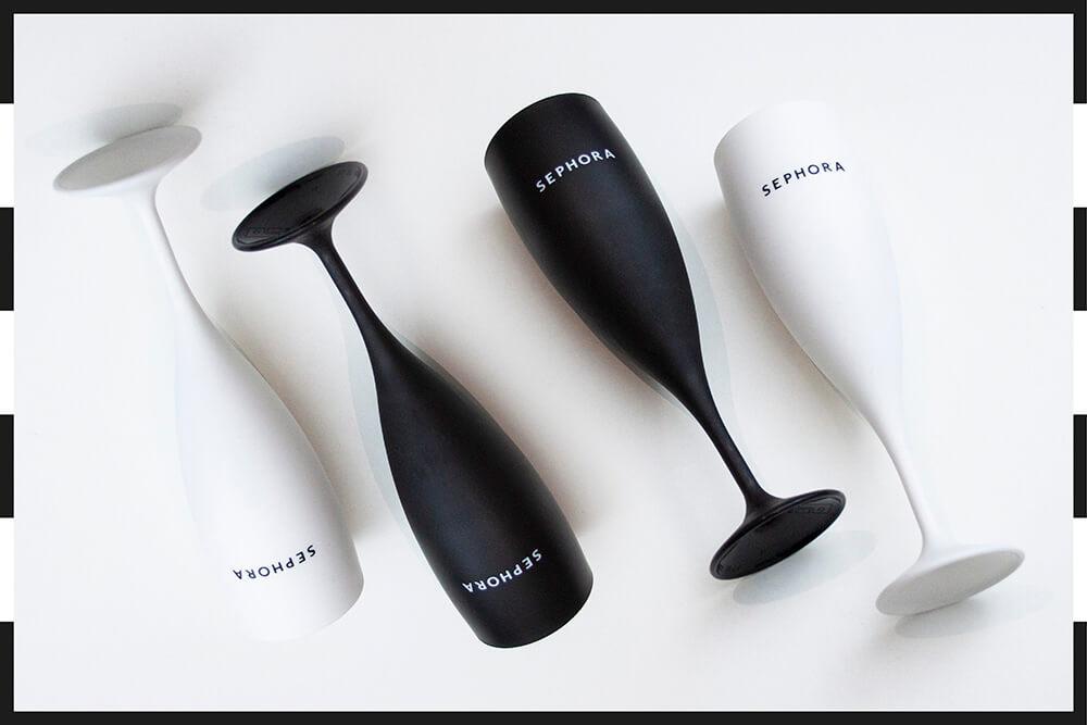 Verres personnalisés réalisés pour Sephora par Mavip