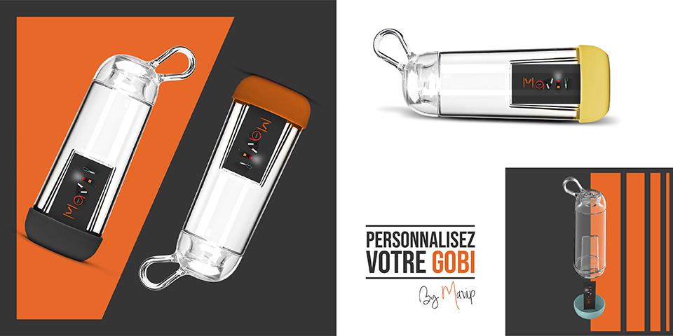 Gourde Gobi personnalisable avec logo d'entreprise