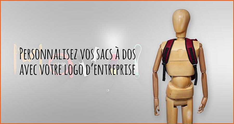 Sacs à dos personnalisables avec votre logo d'entreprise