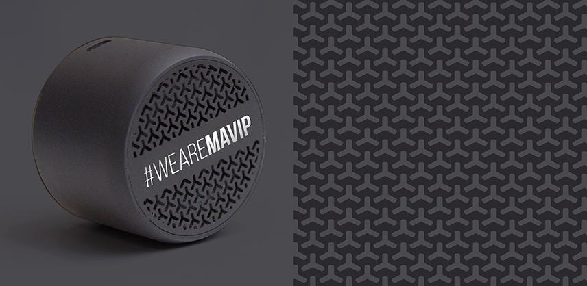 Enceinte bluetooth personnalisée avec votre logo d'entreprise