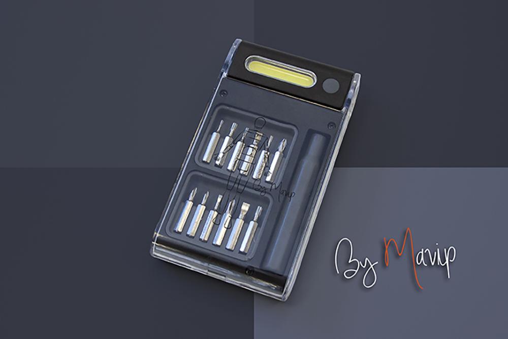Set d'outils personnalisable avec logo d'entreprise