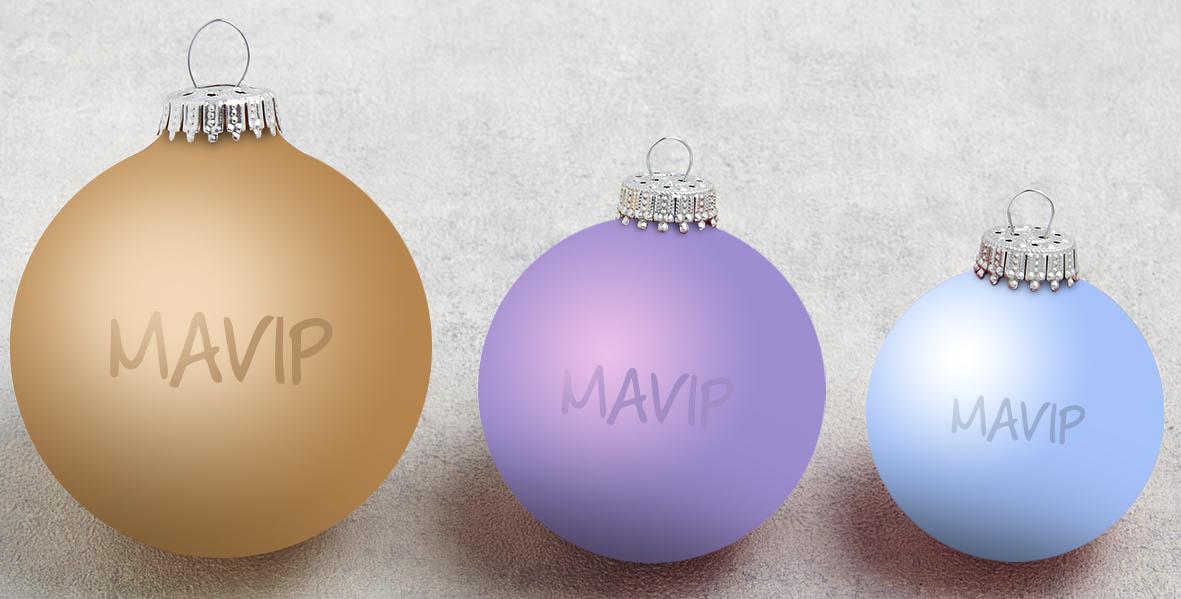 Boules de Noël personnalisables avec logo d'entreprise