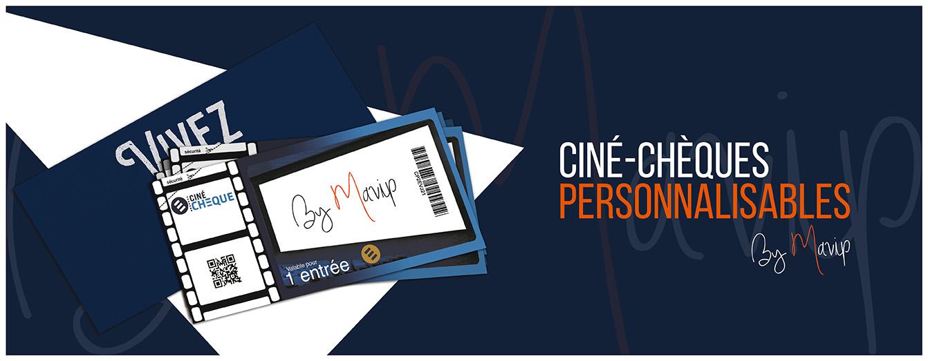 Ciné-chèques personnalisables avec votre logo d'entreprise