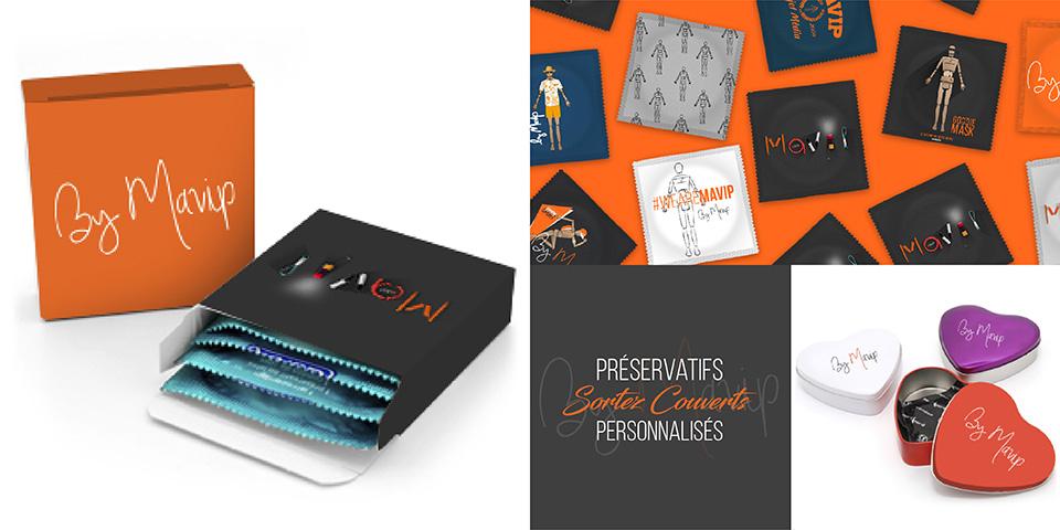 Présevatif personnalisé avec logo ou visuel de communication
