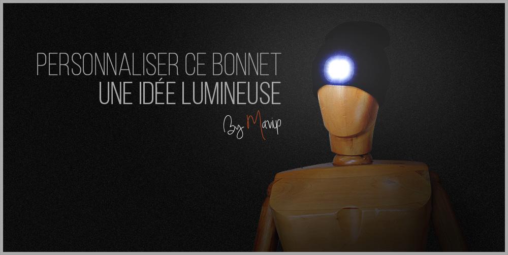 Bonnet lumineux personnalisable avec logo d'entreprise