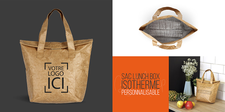 Sac lunch box isotherme personnalisable avec logo by Mavip