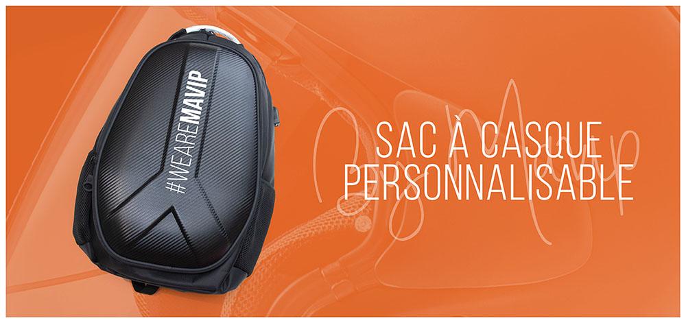 Sac à casque avec compartiment pour ordinateur portable personnalisable avec logo d'entreprise by Mavip