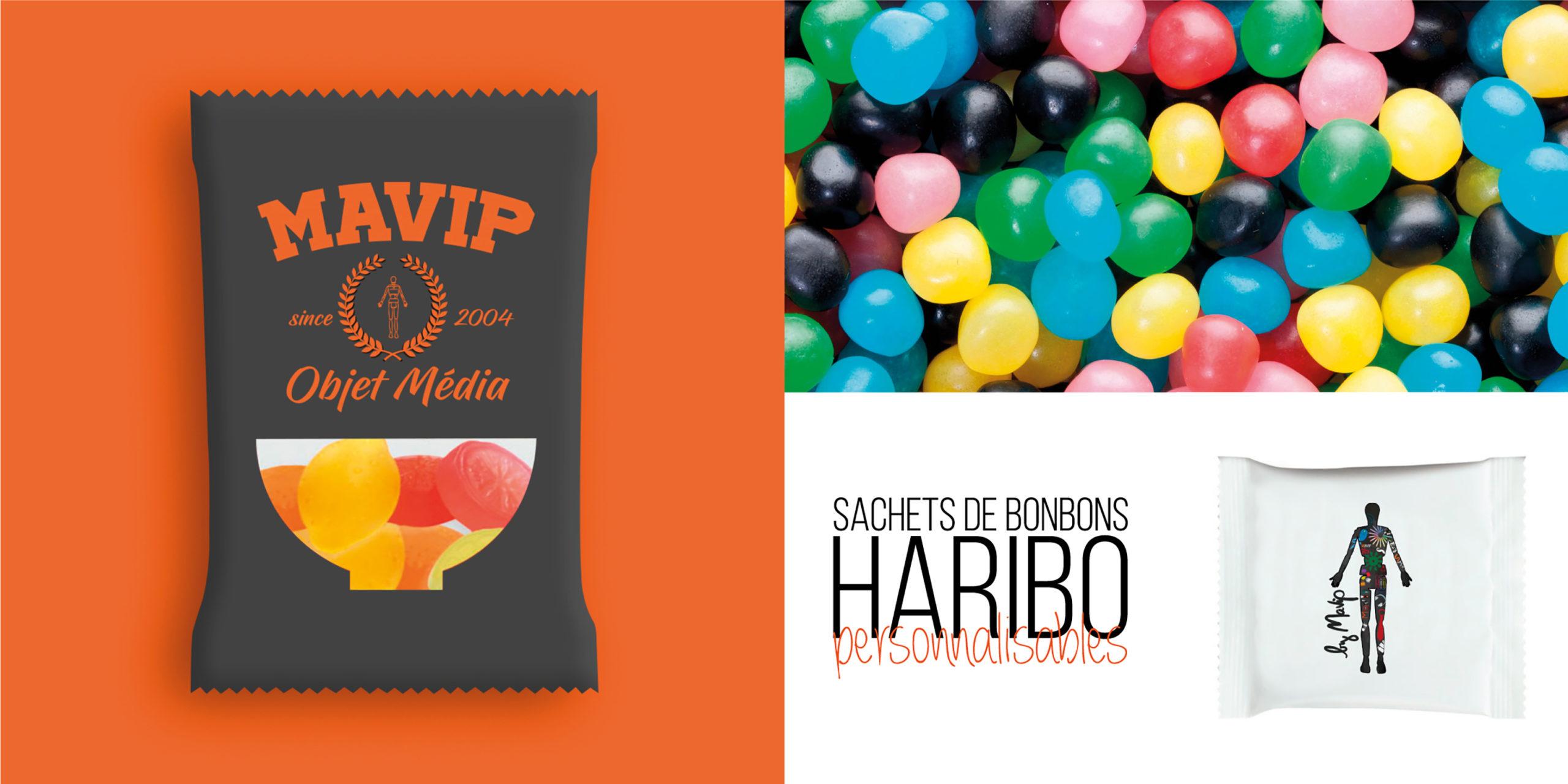 Sachets de bonbons Haribo personnalisables