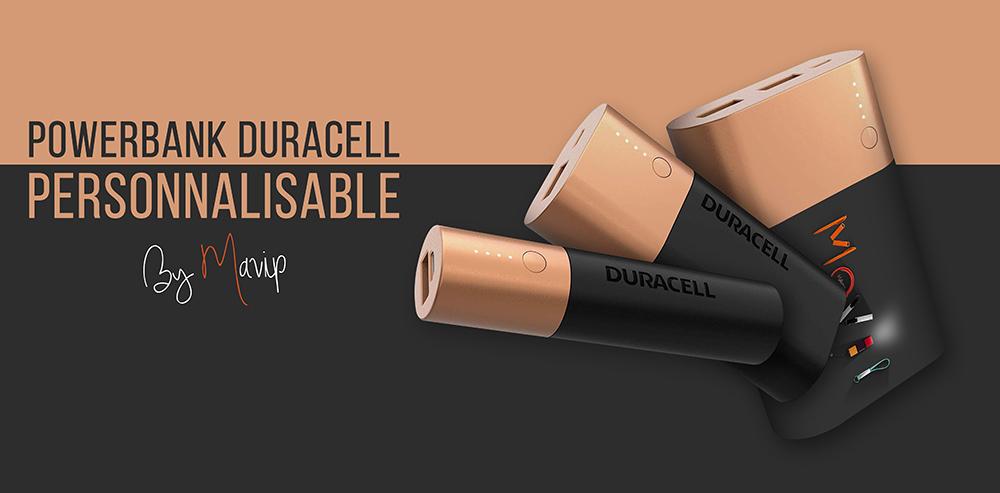 Powerbank Duracell customisé avec votre logo de société