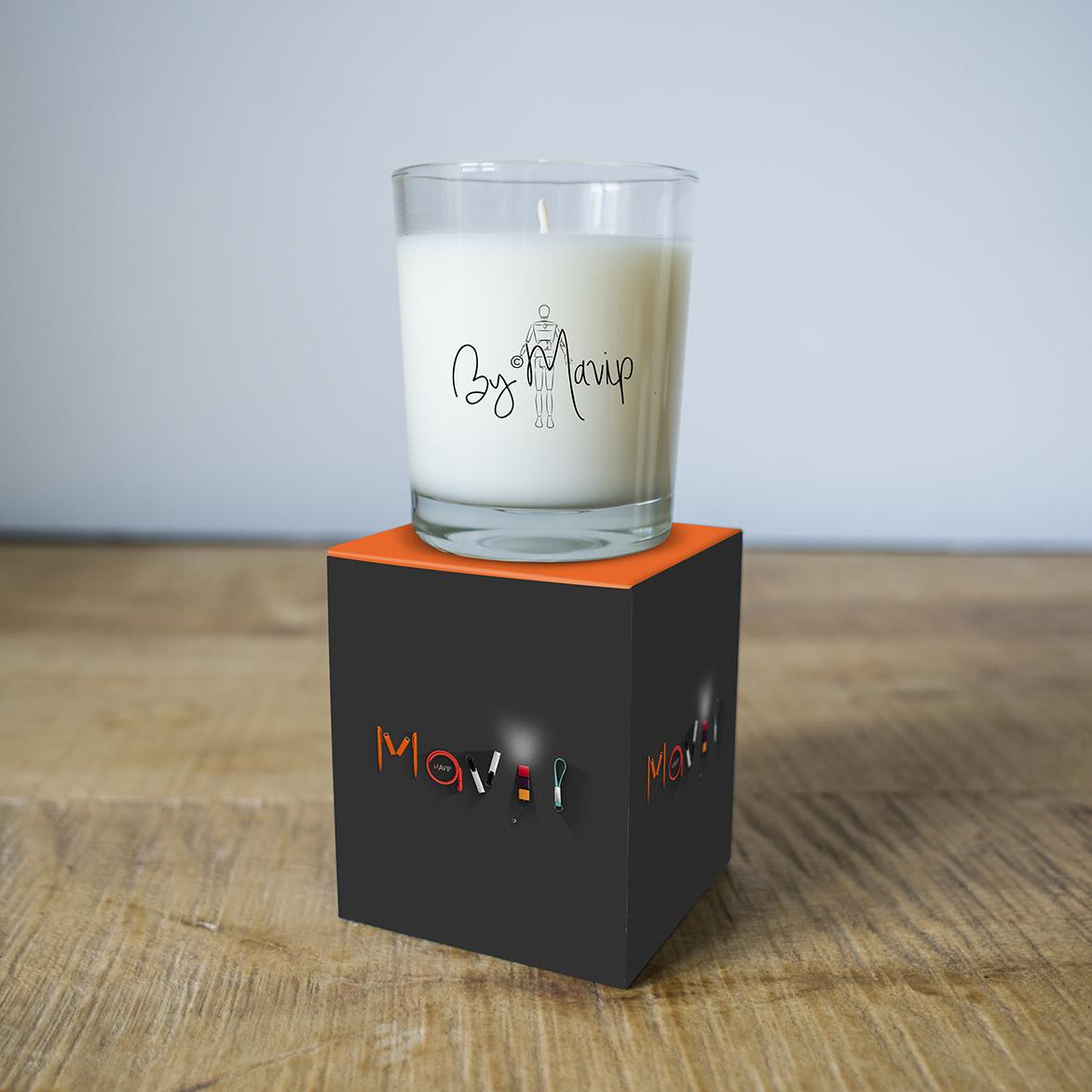 Bougies personnalisables avec logo d'entreprise by Mavip