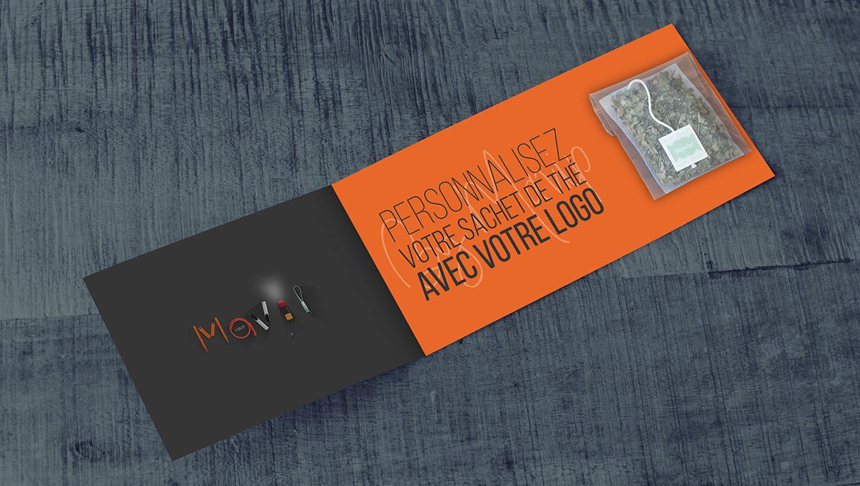 Sachet de thé personnalisable avec logo d'entreprise by Mavip